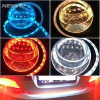 Car Styling LED Strip Lighting Rear Trunk Tail Light Dynamic Streamer Brake Turn Signal Leds Warning
