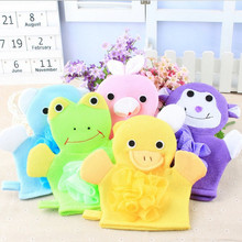 Cute Baby Bath Sponge Cartoon Super Soft Cotton Brush Rubbing Towel Ball 5 Colors New Arrival