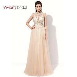 Vivian s bridal lace sequin a line evening dress sleeveless tulle prom dress long party dresses.jpg 250x250