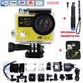 """Ultra HD Atualizado 4 K H3R Ação WIFI Câmeras 1080 P 2 """"Com Câmaras De Vídeo de Esportes de Controle Remoto + Extensível com Pólo de alumínio Vara"""