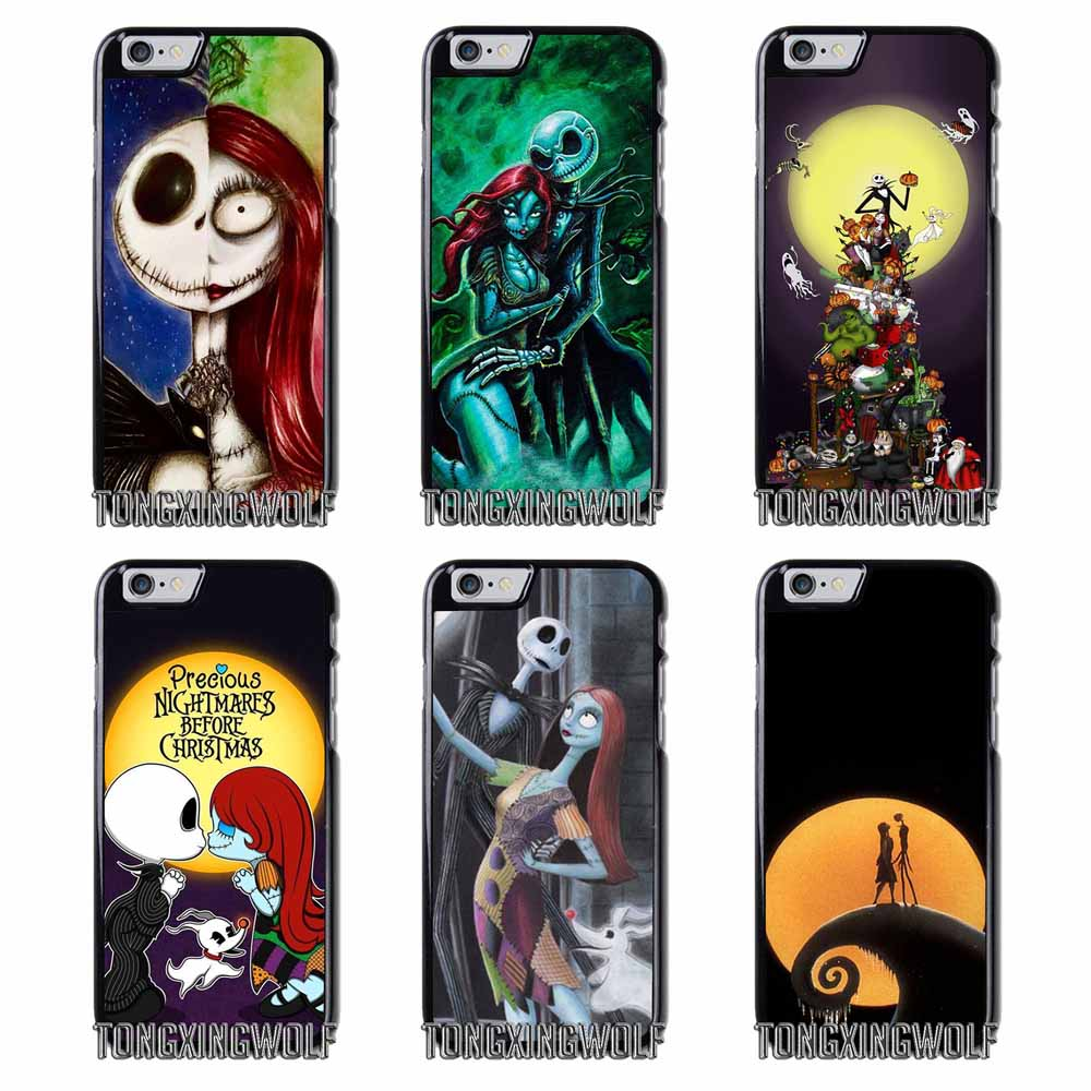 Jack Sally Nightmare before Christmas Cover Case For Samsung S4 S5 S6 S7 S8 Eege Plus Note 2 3 4 5 8 Huawei honor P8 P9 P10 Lite
