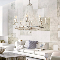American Country Style White Vintage Luxury Big LED Crystal Chandelier Lamp Lustres Modern E14 Lights For