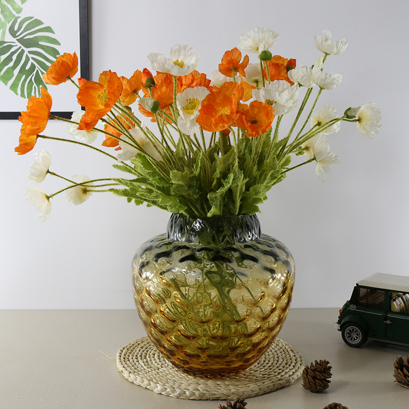 Modern style terrarium colored glass vase for decoration home decor Tabletop vases for flowers en verre Gradient color vaseModern style terrarium colored glass vase for decoration home decor Tabletop vases for flowers en verre Gradient color vase
