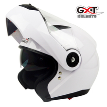 New GXT fashion comfortable flip up Moto Helmet sun visor safety Double Lenses Motorcycle Helmet certified