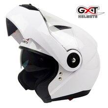 New GXT fashion comfortable flip up Moto Helmet sun visor safety Double Lenses Motorcycle Helmet certified Motorbike helmet 370