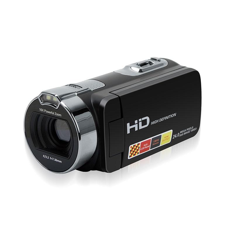 Portable 2.7 Inch HDV-312P Digital Video Camera Camcorders DV Rotating LCD Screen Digital Cameras Micro Cameras EU/US/UK Plug