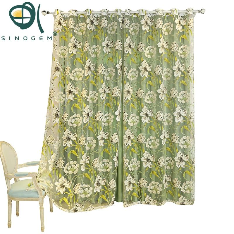 Sinogem trópusi virágmintás függönyök nappali szoba - Lakástextil