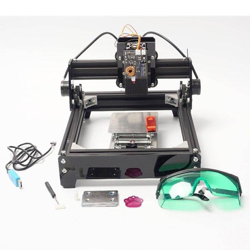 10000 MW Laser puissance bricolage Mini 10 W Laser Machine de gravure pour la gravure de métal en acier inoxydable céramique aluminium, céramique, bois
