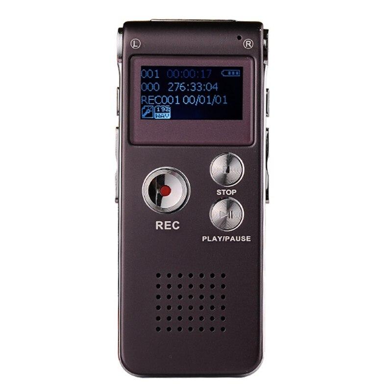 8 GB USB Gravador De Voz Digital Ditafone Gravador De Voz De Áudio Com WMA/WAV/MP3/OGG Microfone Embutido
