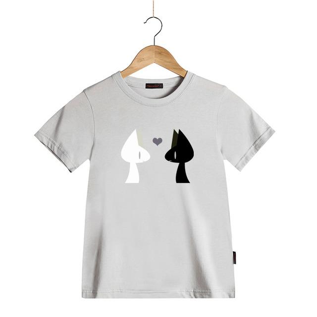 Enfants de Dessin Animé Noir et Blanc Chat T-shirts Garçons et Filles Coton O-cou T-shirts Enfants Vêtements Vêtements À Manches Courtes T & Tops