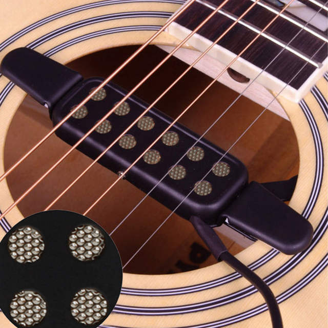 Online Shop Easy To Use Electric Guitar Pickup Audio Transducer Clip