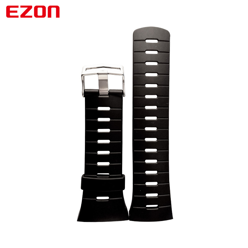 Image 3 - Original 24mm Black Silicone Rubber Watch Strap Sports Watch Band For Wristwatch EZON L008 T023 T029 T031 G1 G2 G3 S2 H001 T007-in Watchbands from Watches