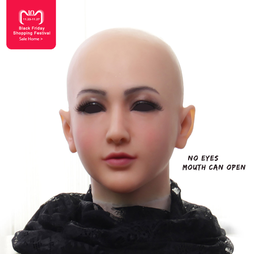 EYUNG new listing Claire Goddess Top masquerade silicone female crossdresser face drag queen shemale fake breasts