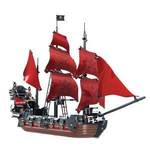 Image 5 - 870 + шт., Детский конструктор «пиратский корабль»