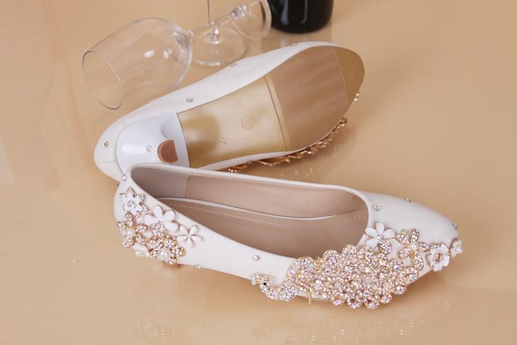 New Crystal Shoes Wedding Shoes Bride Wedding Dress Bridesmaid Pearl Diamond Girl Phoenix White Princess Shoe