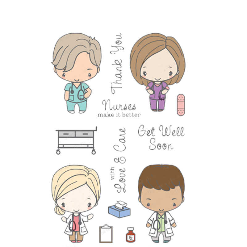 Get Well Soon Clear Stamp Diy Stencil For Scrapbooking Handcraft