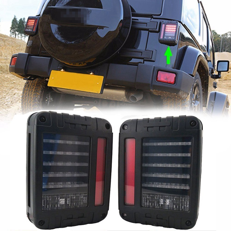 LED Tail Light Brake/Reverse/Parking Stop Rear Lamp with DRL for Jeep Wrangler CJ JK 2007-2015 left hand a pillar swith panel pod kit with 4 led switch for jeep wrangler 2007 2015