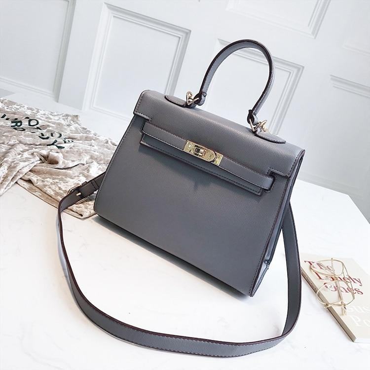 Color Block Shoulder Bag Canvas Kally Bag PU Leather Big Lychee Contrast Color Leather Handbag
