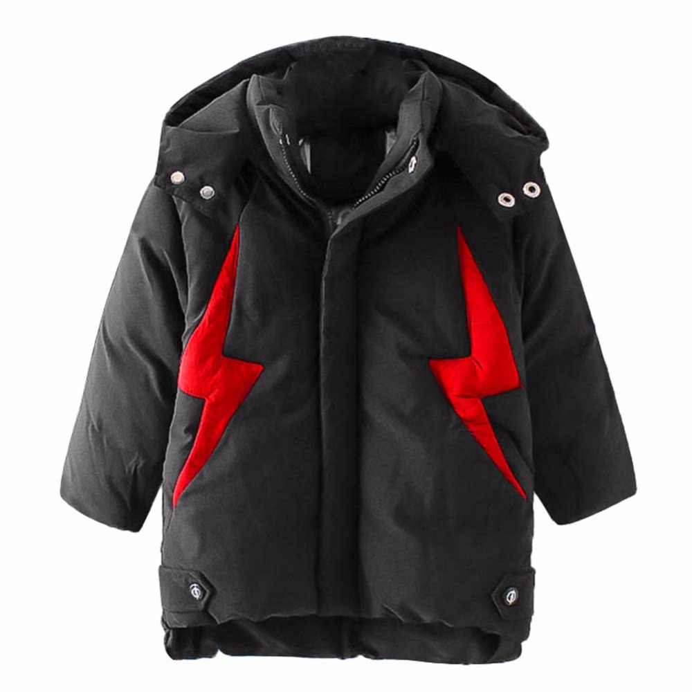 Fashion Black Children Winter Jacket Down Cotton Coat Thick Hooded Boys Girls Long Sleeve Outerwear Kids Thicker Warm Clothing women winter jacket 2017 new fashion hooded thick warm long sleeve down cotton coat cute slim big yards female parkas ladies271
