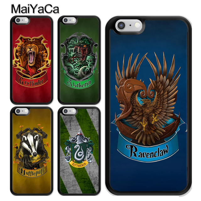 Maiyaca Harry Potter Hogwarts House Gryffindor Hufflepuff Rubber Phone Case For Iphone 6 6s 7 8 Plus X Xr Xs Max 5 5s Se Coque