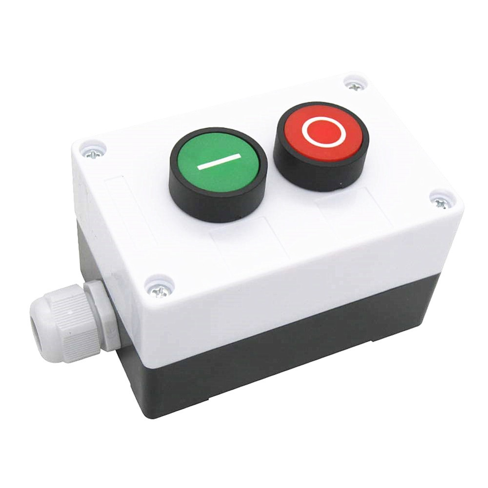 AC 660V 10A Momentary I/O Red Green Sign NO NC Push Button Switch Station