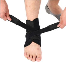 2 Pcs Nylon Ankle Support Brace Sports Safety Elastic Adjustable Strap Running Basketball Fitness Heel Protector Foot Bandage