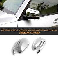 Auto seite spiegel abdeckung für Mercedes Benz C Klasse W204 C250 C300 C350 Sport Limousine 2010-2013 ABS Hinzufügen auf
