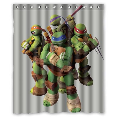 Custom Tmnt Age Mutant Ninja Turtles Design Your Own Waterproof Shower Curtain Bathroom Curtains 48x72