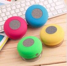 DHL Free Shipping 100PCS/Lot Mini Waterproof Bathroom Bluetooth Speaker Handfree For iPhone iPad Samsung Smart Phones