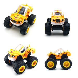 Image 5 - 6pcs/Set Blazed Machines Car Toys Russian Miracle Crusher Truck Vehicles Figure Blazed Toys For Children Kids Birthday Gifts