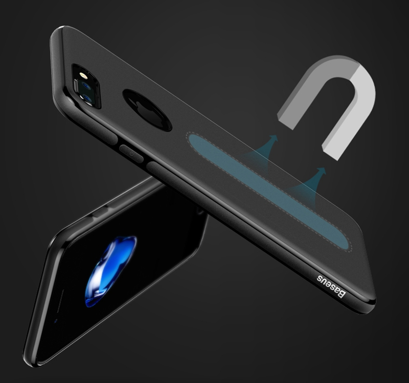 Original de baseus marca magnética flexible tpu + microfibra ultra teléfono case