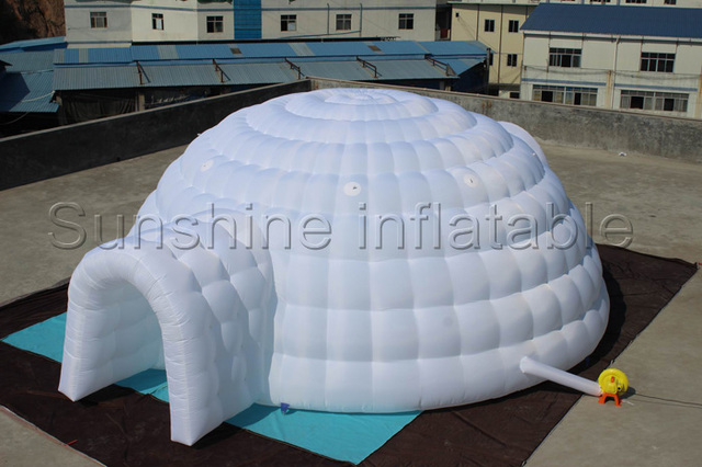 6m portable giant cover inflatable igloo tent with two entrances for commercial CE/UL listed & 6m portable giant cover inflatable igloo tent with two entrances ...