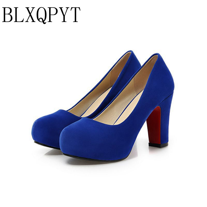 2017 begrenzte zapatos mujer tacon schuhe große größe 34-43 farbe neue frühling herbst frauen pumpt frauen schuhe high heels pu a35-1