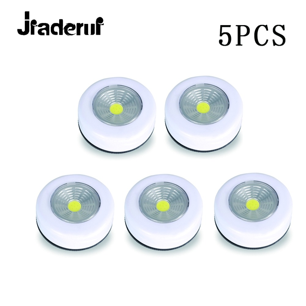 Jiaderui LED Wardrobe Night Lamp 5Pcs 0.25W Inner Hinge LED Nightlight Decor Kitchen Bedroom Living Room Cabinet Cupboard Close