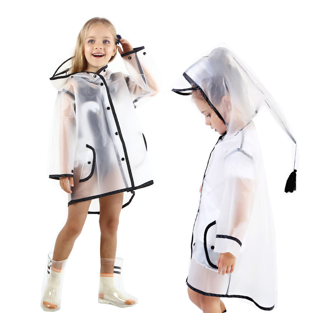 MUQGEW Winter Baby  Clothes Kids Boy Girl Clothes Raincoat Rain Jacket Transparent Lightweight Rainwear Rain Slicker girl