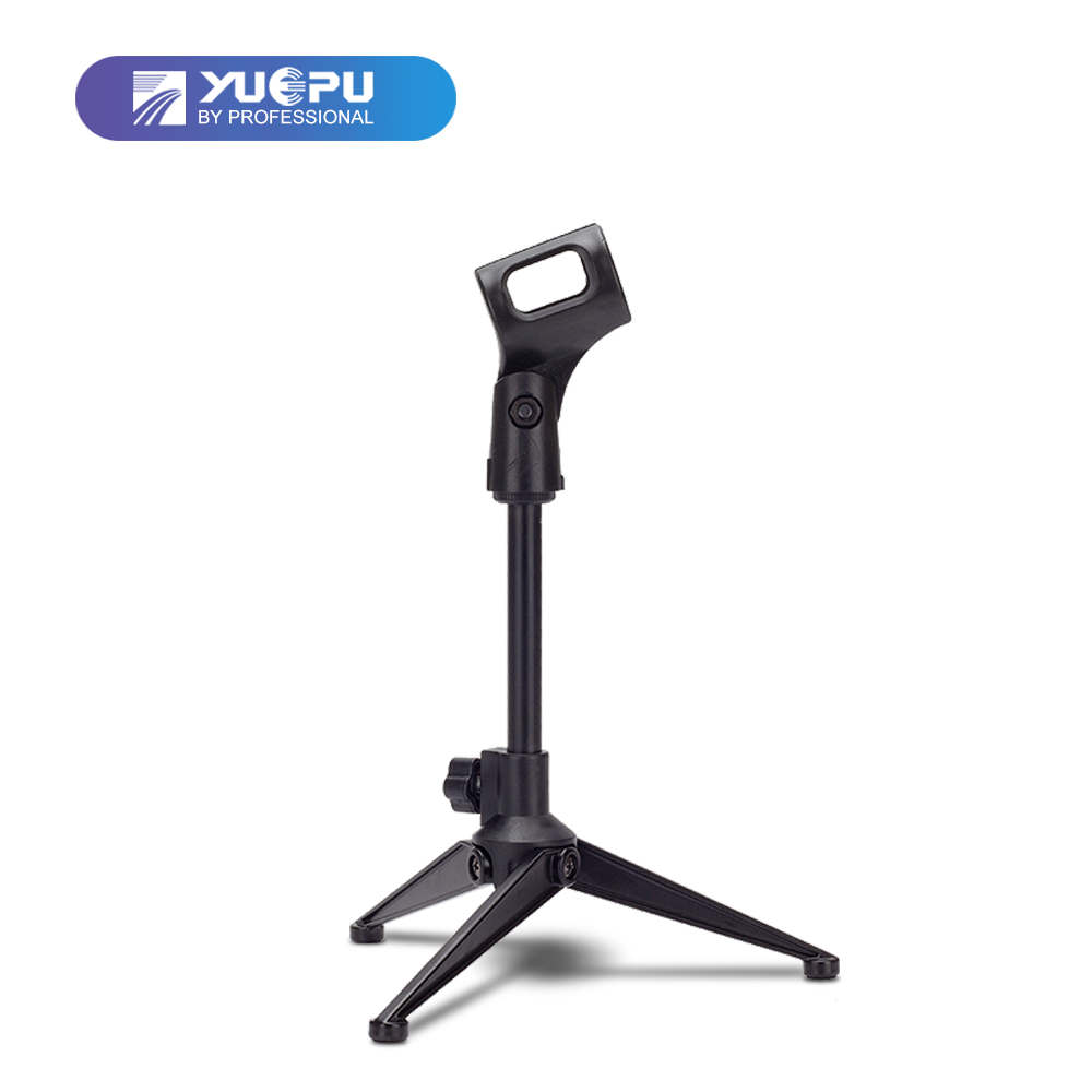 YUEPU RU-DS001 New Desktop Microphone Stand Portable Mic Holder on Computer Desk for Condenser Dynamic Microphone Support Metal