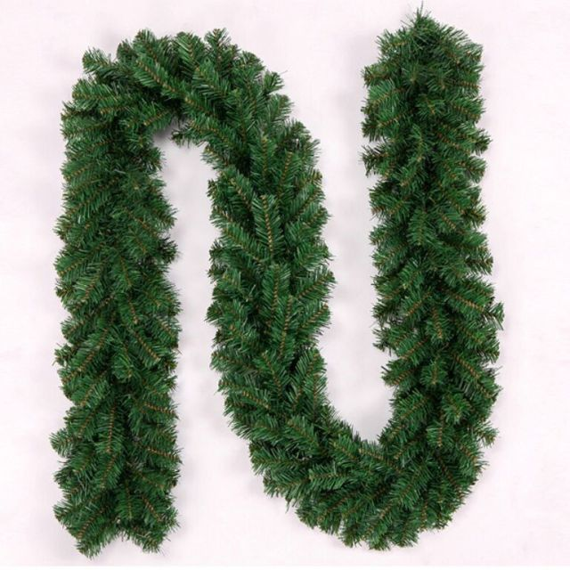 27m christmas garland green christmas rattan christmas ornaments christmas decorations for home free shipping - How To Decorate A Christmas Garland