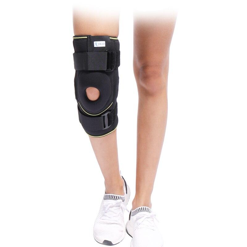 HKJD Medical Health Care Adjustable Elastic Knee Support Brace Knee pad Patella Knee Pads Hole Sports