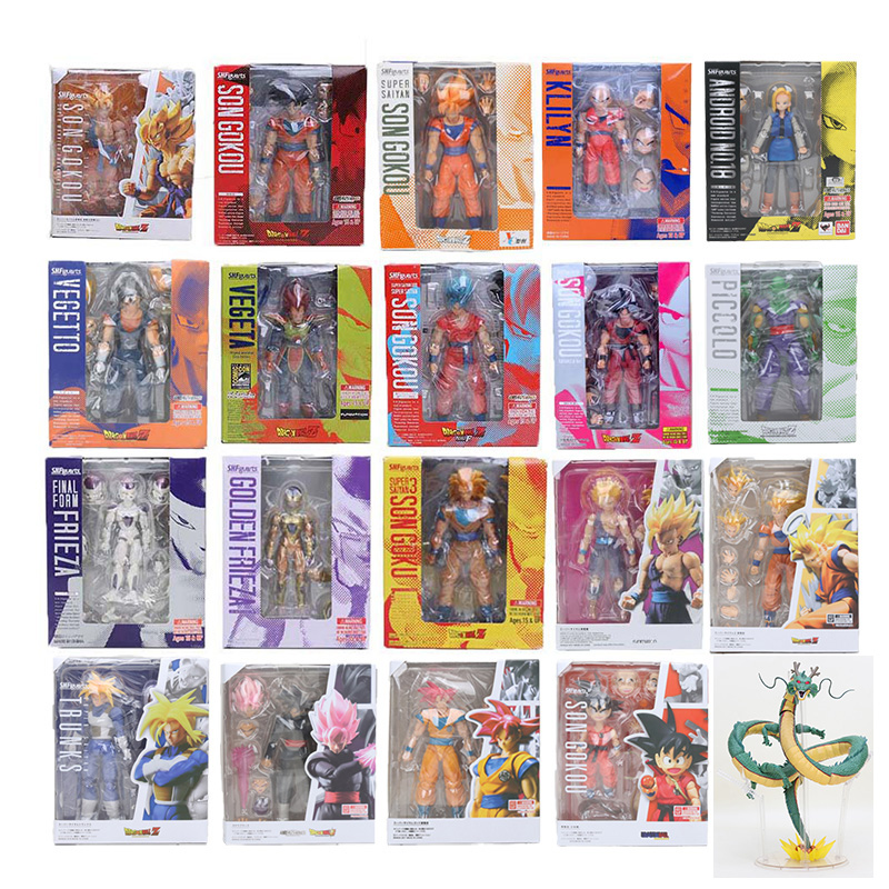 11.5-17 cm Dragon Ball Z Figura SHFiguarts Super Saiyan Son Goku trunks Vegetto Vegeta Freezer gohan Crilin Lazuli figura giocattolo SHF