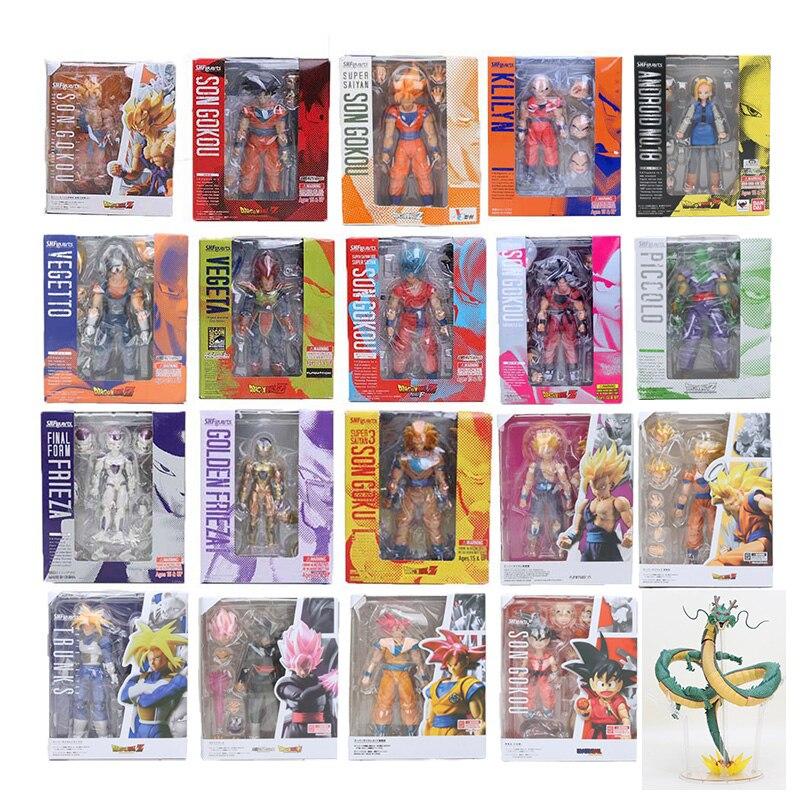 11.5-17 cm Dragon Ball Z Figure SHFiguarts Super Saiyan Fils Goku trunks Vegetto Vegeta Freezer gohan Krillin Lazuli figure jouet SHF
