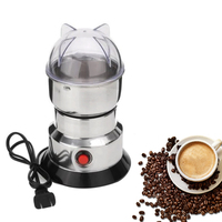 1pcs Stainless Steel Coffee Machine Mill Whole Cereals Grains Electric Coffee Mill Household Garlic Pepper Mill Kitchen Tools