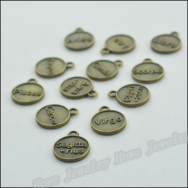 ②204 unids vendimia Amuletos constelación colgante de bronce ...