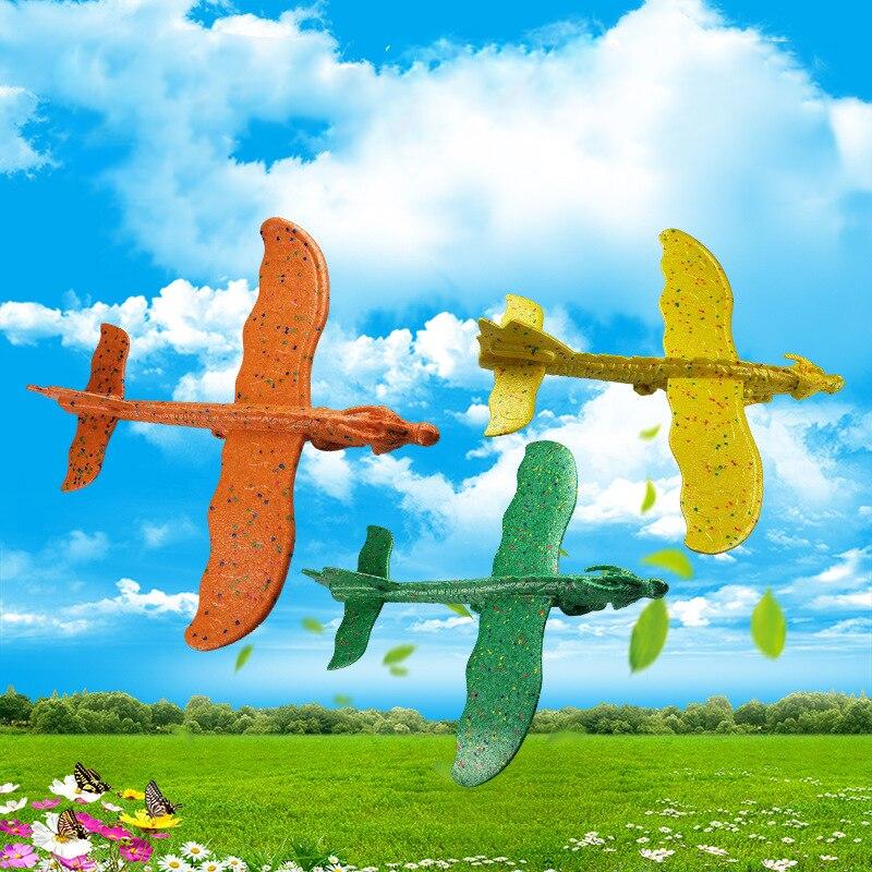 2017 12pcs Diy Hand Throw Flying Glider Planes Foam: New Big DIY Hand Throw Foam Planes For Kids Flying Glider