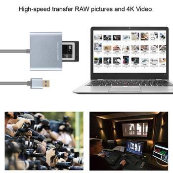 USB3.0/2.0 XQD Cartão de Alta Velocidade Leitor XQD 2.0 Adaptador USB 3.0 Leitor de Cartão Escritor Leitor de Cartão de 500 MB/S