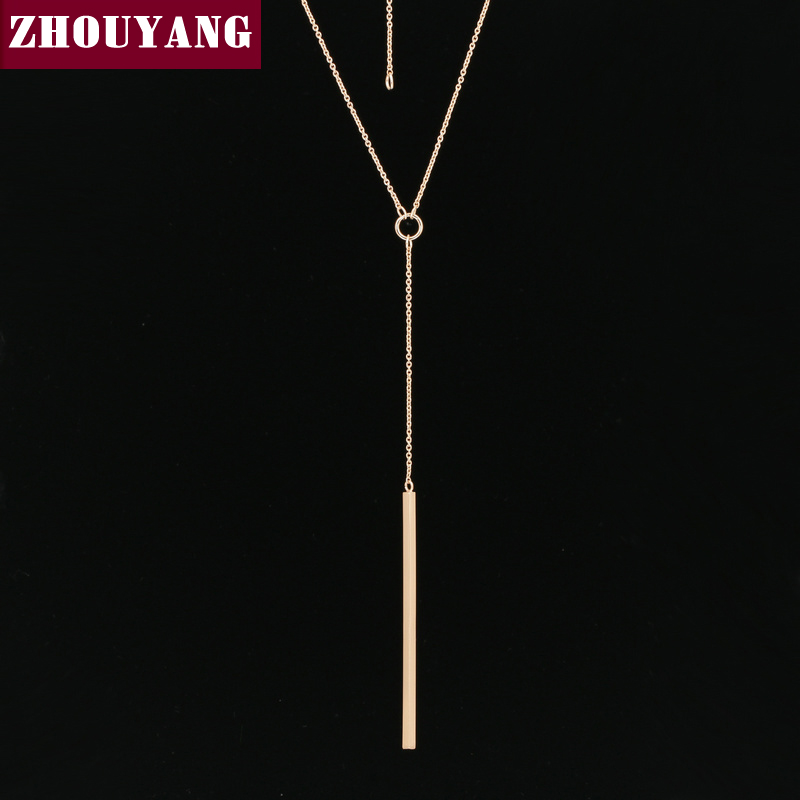 Anti Allergy Hot Sale Y Style Chain Long Necklaces & Pendants