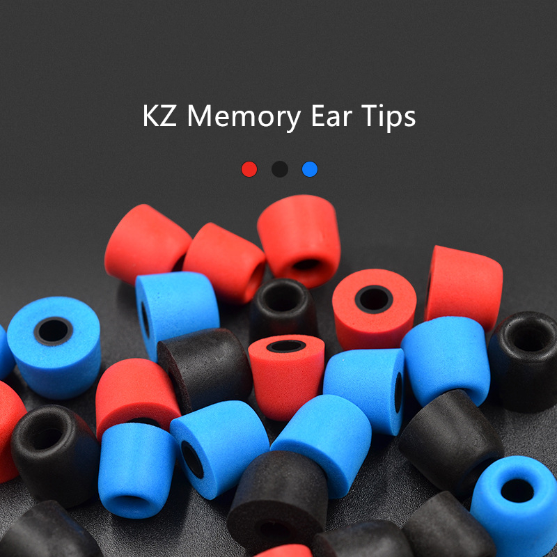 1 Pair Ear Pads Earphone Sillicone Ear Plugs Memory Foam Earphone Ear Tips In Ear Headsets Protective Cover for KZ ZS3 ZS5 ZS6 in Earphone Accessories from Consumer Electronics