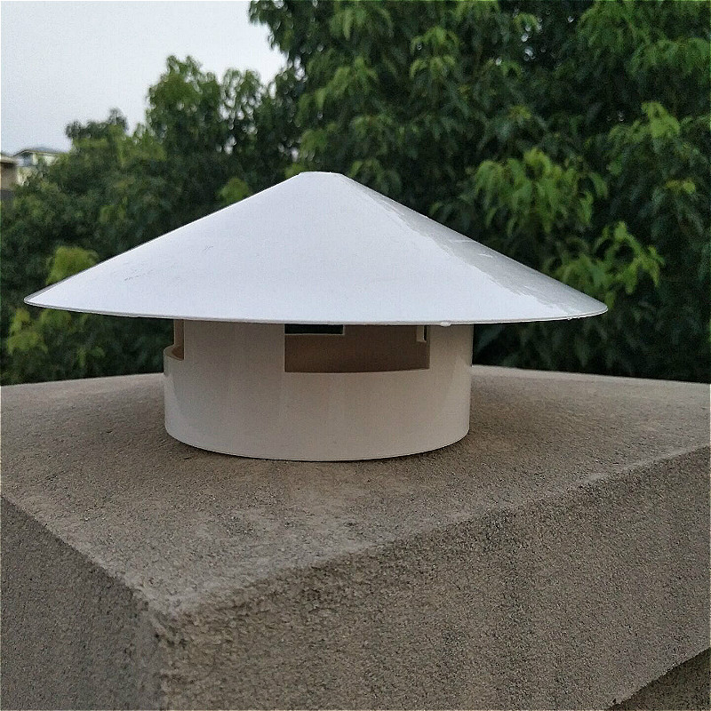 Pvc Cone Top Chimney Cap Cover Weatherproof Roof Vent Cap