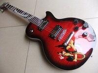 En gros Nouveau Cnbald lp slash guitare électrique avec abalone serpent incrustation acajou corps en Rouge 110321