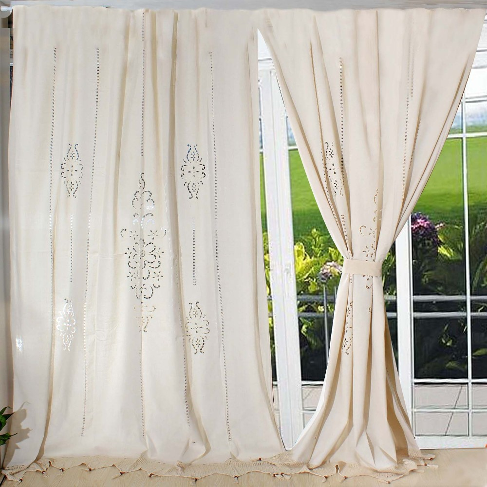 Country curtain design - Aliexpress Com Buy Modern Curtains For The Living Room Tab Top Cotton Linen Crochet Lace Curtain Blackout Curtains For Bedroom Home Textile From Reliable