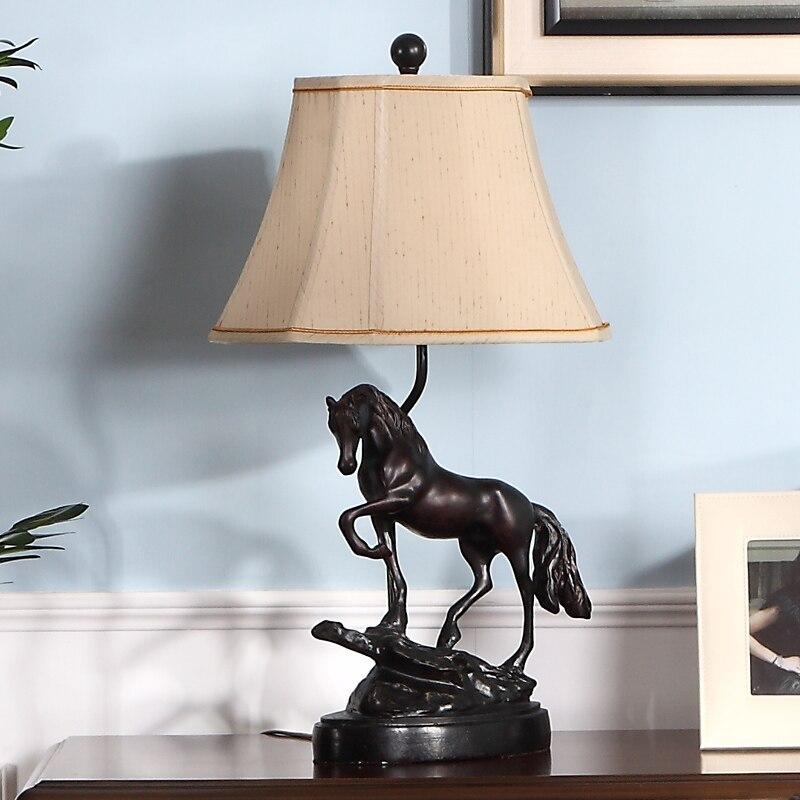 Led Lamps Industrious Modern Pentium Horse Table Lamp Lustre Design Light Fixtures Living Room Bedroom Bedside Office Art Decoration Home Lighting Lights & Lighting